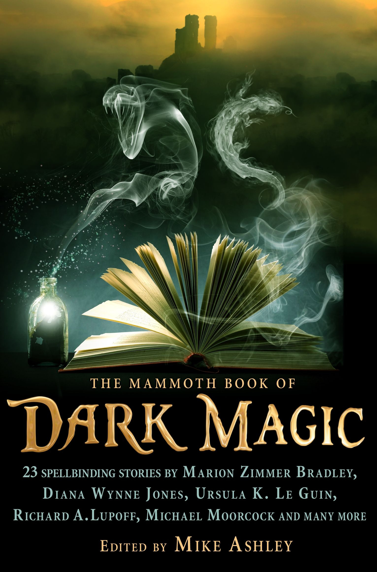 Image result for the mammoth book of dark magic book cover