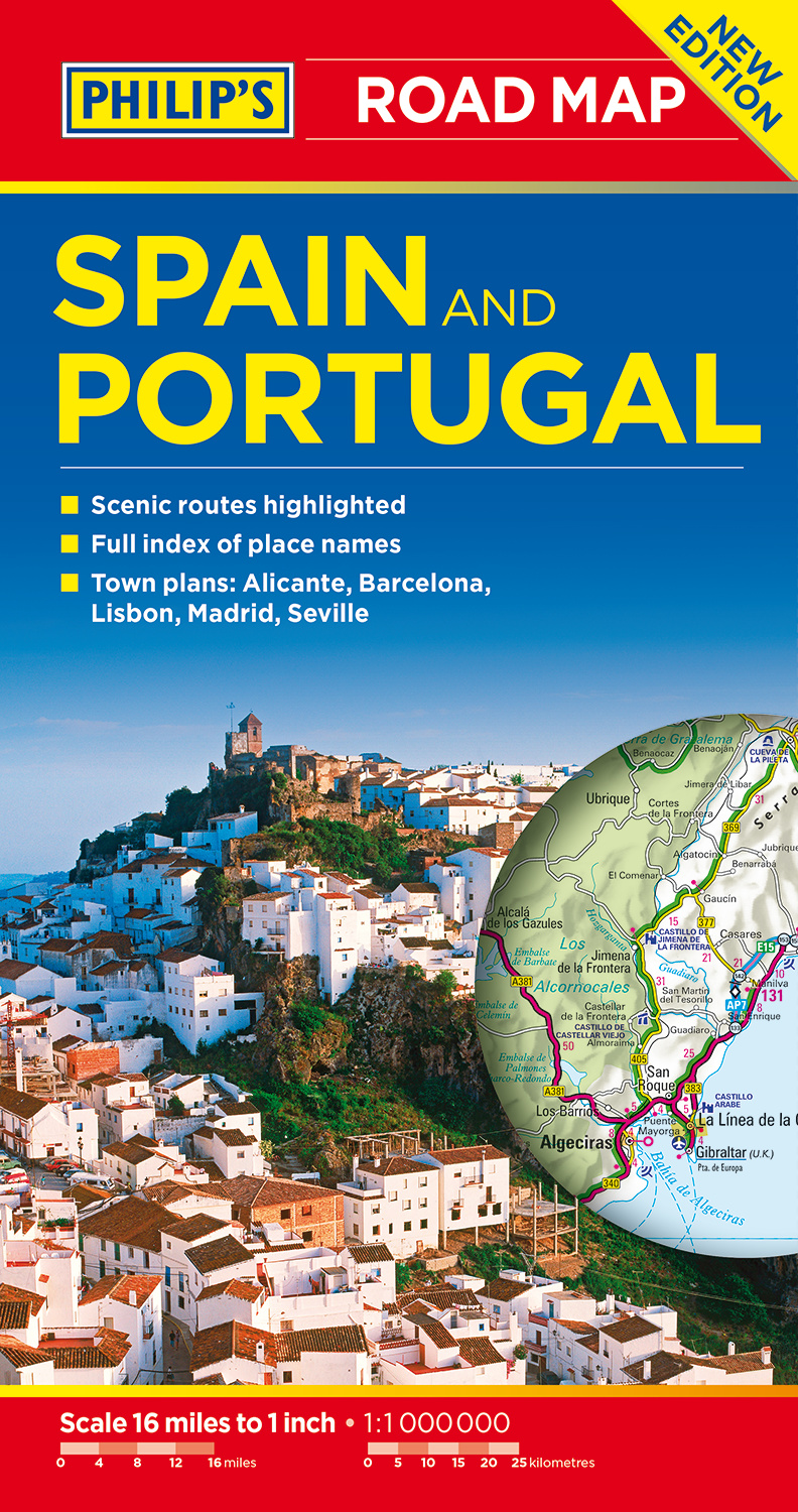 Philip\'s Spain and Portugal Road Map by Philip\'s Maps - Books ...